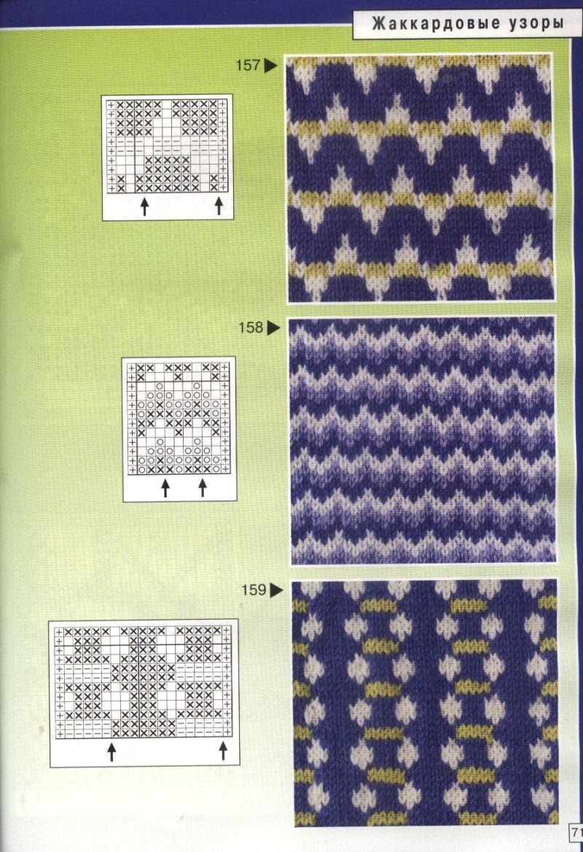 Вязание двухцветный узор для детей